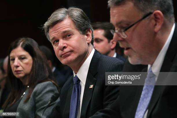 Acting Homeland Security Secretary Elaine Duke Federal Bureau of Investigation Director Christopher Wray and National Counterterrorism Center...