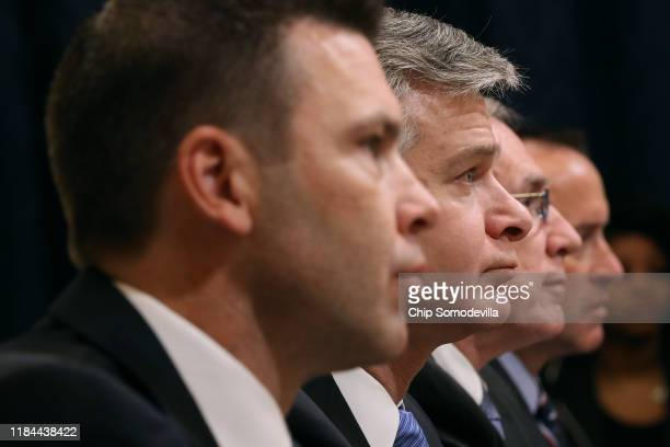 Acting Homeland Security Secretary Kevin McAleenan Federal Bureau of Investigation Director Christopher Wray acting Director of the National...