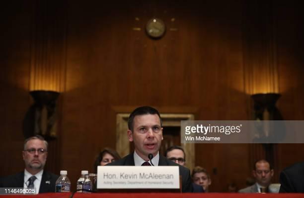 Acting Homeland Security Secretary Kevin McAleenan testifies before the Senate Homeland Security Subcommittee May 2 2019 in Washington DC McAleenan...