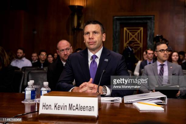 Acting Homeland Security Secretary Kevin McAleenan testifies during a hearing with the Senate Judiciary Committee on Capitol Hill on June 11 2019 in...