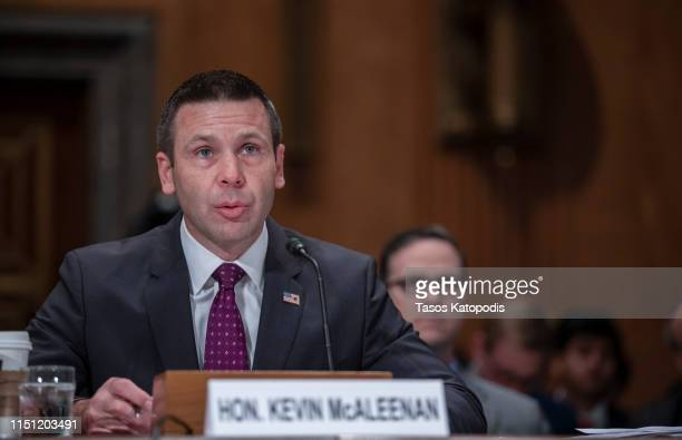 Acting Homeland Security Secretary Kevin McAleenan testifies for agency's fiscal year 2020 budget request before Senate Homeland Security Committee...