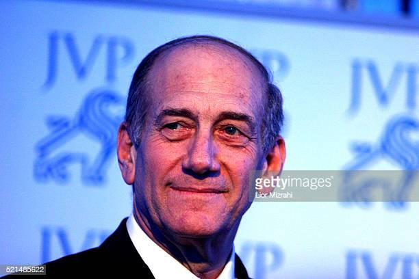 Acting Israeli Prime Minister Ehud Olmert speaks at a ceremony in Jerusalem Tuesday February 28, 2006.