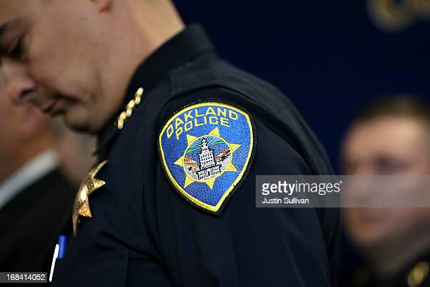 Acting Oakland police chief Anthony Toribio looks on during a news conference at Oakland police headquarters on May 9 2013 in Oakland California A...