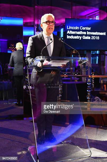 Acting President of Lincoln Center Russell Granet speaks during the Lincoln Center Alternative Investment Industry Gala on April 16 2018 at The...