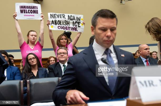 US Acting Secretary of Homeland Security Kevin McAleenan arrives to testify on The Trump Administration's Child Separation Policy during a House...