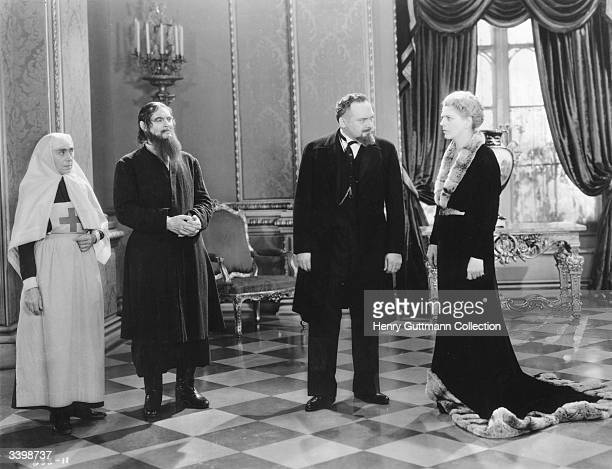 Acting siblings Ethel Barrymore and Lionel Barrymore star as the Tsarina and the monk Rasputin in the MGM film 'Rasputin The Mad Monk' aka 'Rasputin...