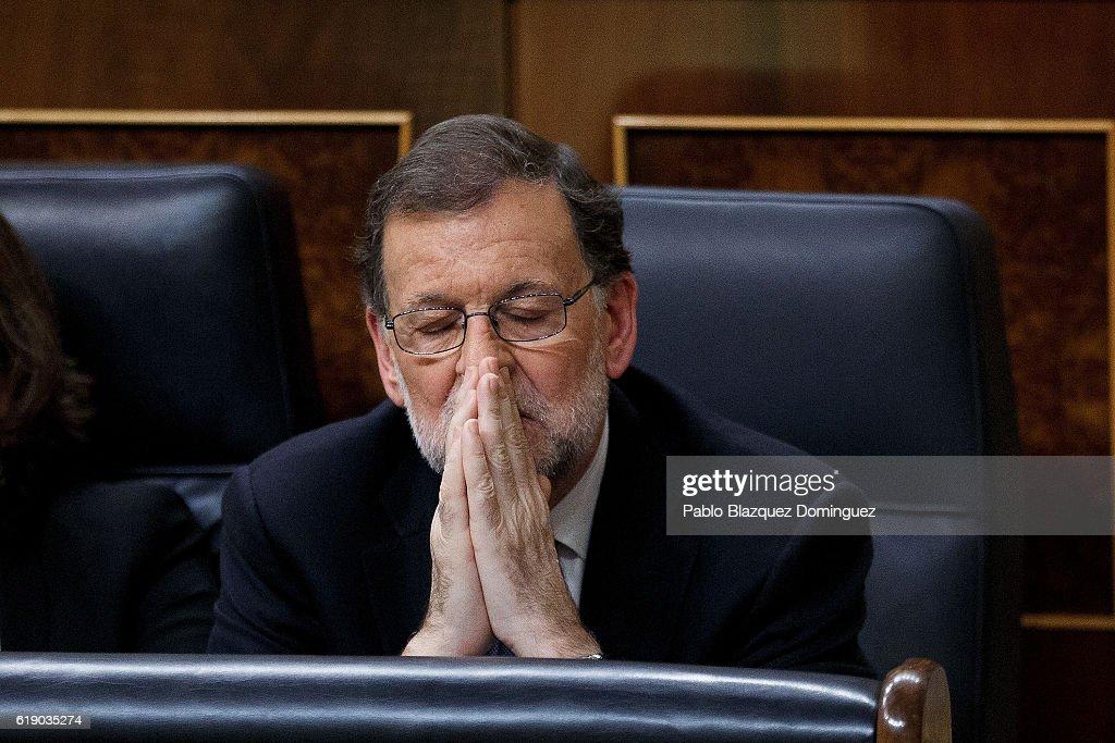 Spanish Parliament Votes During The Investiture Debate