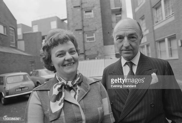 Acting Warden of Toynbee Hall Marion Press with British politician John Profumo in London England April 1976