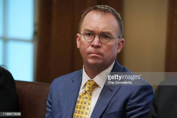Acting White House Chief of Staff Mick Mulvaney attends a bilateral meeting with President Donald Trump and NATO Secretary General Jens Stoltenberg...