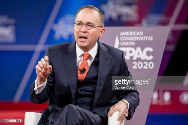 Acting White House Chief of Staff Mick Mulvaney has a conversation with Stephen Moore Distinguished Visiting Fellow for Project for Economic Growth...