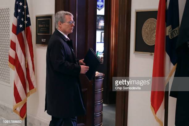 Acting White House Counsel Emmet Flood walks into the offices of Senate Intelligence Committee Chairman Richard Burr in the Russell Senate Office...