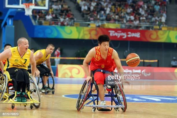 Action Australie / Chine Basket Jeux Paralympiques 2008 Pekin