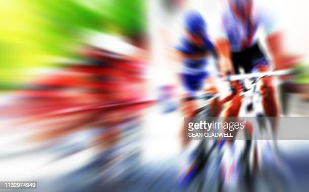 action blur cycle road race - road race stock pictures, royalty-free photos & images