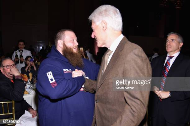 Action Bronson and Bill Clinton attend the Food Bank for New York City CanDo Awards Dinner 2017 on April 19 2017 in New York City
