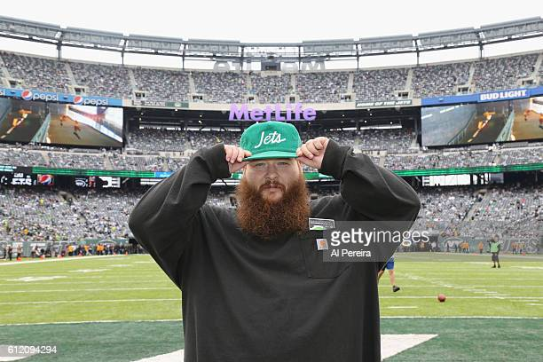 Action Bronson attends the New York Jets versus Seattle Seahawks game at MetLife Stadium on October 2 2016 in East Rutherford New Jersey