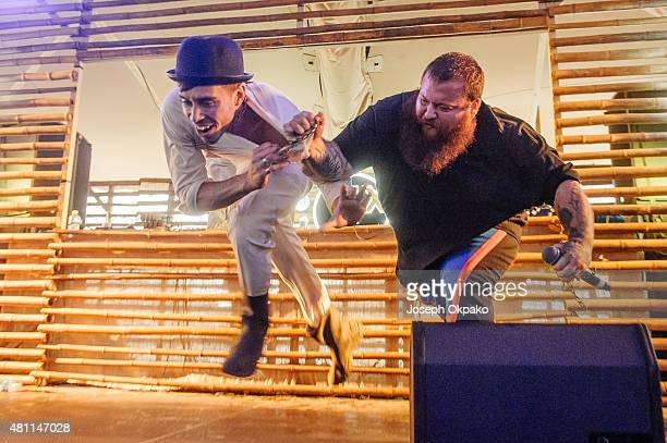 Action Bronson performs on Day 1 of Lovebox festival taking place at Victoria park on July 17 2015 in London United Kingdom