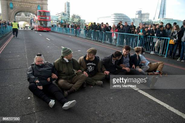 Action by Stop Killing Londoners Cut Air Pollution campaign on 30th October 2017 in central London England United Kingdom The campaign aims to draw...
