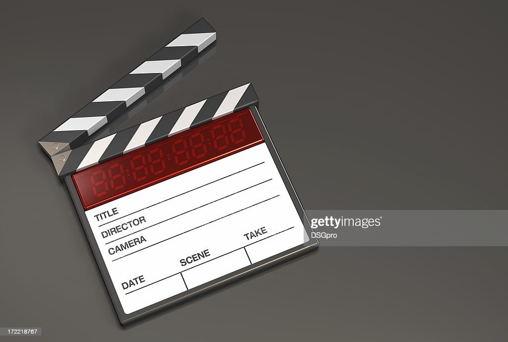 Action clapboard white : Stock Photo