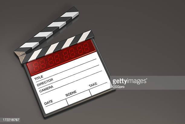 Action clapboard white