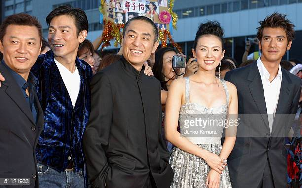 Action director Tony Ching SiuTung Hong Kong actor Andy Lau Chinese film director Zhang Yimou Chinese actress Zhang Ziyi and Japanese actor Takeshi...