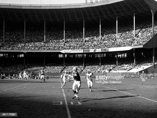 Action during a game on November 24 1963 between the Dallas Cowboys and the Cleveland Browns at Municipal Stadium in Cleveland Ohio There was some...