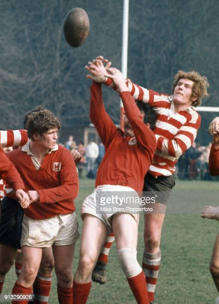 Action during a rugby union match between London Welsh and Rosslyn Park in London on 17th March 1973