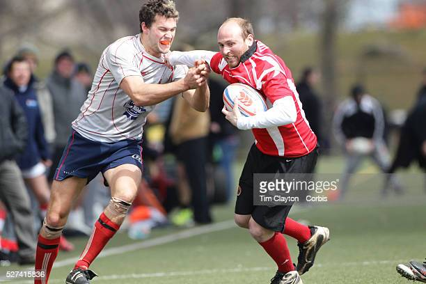 Action during the Binghamton Devils V West Pontomac rugby match during the Four Leaf 15's Club Rugby Tournament at Randall's Island New York The...