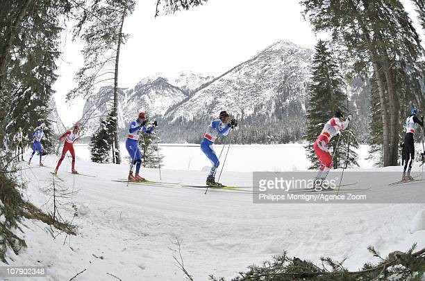 Action during the FIS CrossCountry World Cup Tour de Ski Men's 35 km on January 6 2011 in Toblach Italy