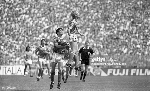 Action during the Ireland v Holland match at Euro '88