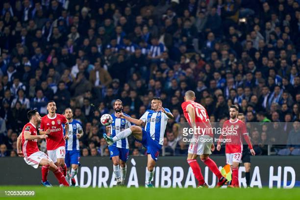 Action during the Liga Nos match between FC Porto and SL Benfica at Estadio do Dragao on February 08 2020 in Porto Portugal