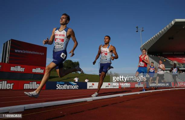 Action during the men's 800m heats during Day One of the Muller British Athletics Championships at the at Alexander Stadium on August 24 2019 in...