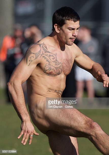 Action during the 'Nude Blacks' versus a Fijian invitation side played at Logan Park Dunedin as an unofficial curtain raiser match before the New...