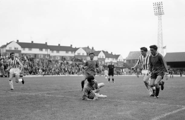 Action during the preseason friendly between Brighton Hove Albion and Chelsea at the Goldstone Ground in Brighton 11th August 1962 The match ended in...