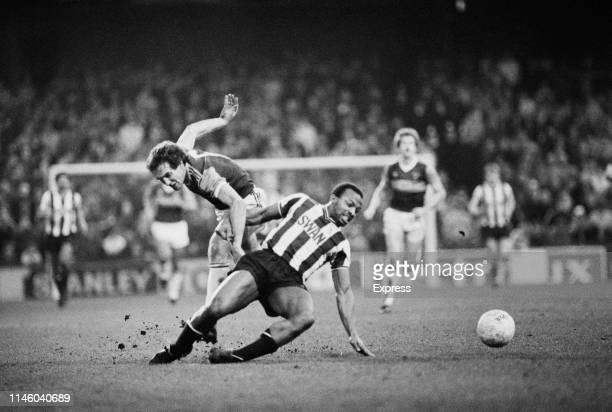 Action during West Ham United FC v West Bromwich Albion FC Upton Park London UK 21st January 1984