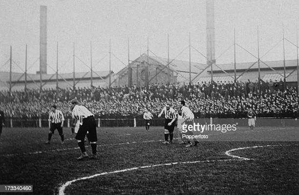 Action from the 3rd replay at the FA Cup semifinal between Sheffield United and Liverpool at Derby UK 30th March 1899 Sheffield United won 10