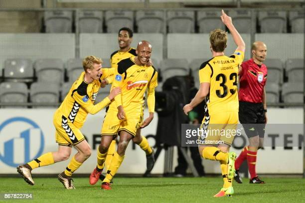 Action from the Danish Alka Superliga match between AC Horsens and FC Copenhagen at Casa Arena Horsens on October 29 2017 in Horsens Denmark