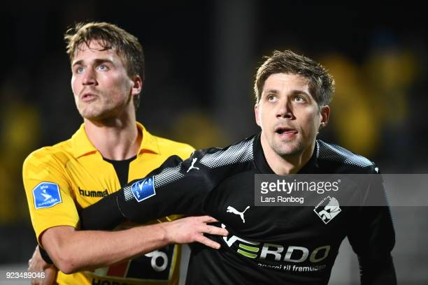 Action from the Danish Alka Superliga match between AC Horsens and Randers FC at CASA Arena Horsens on February 23 2018 in Horsens Denmark