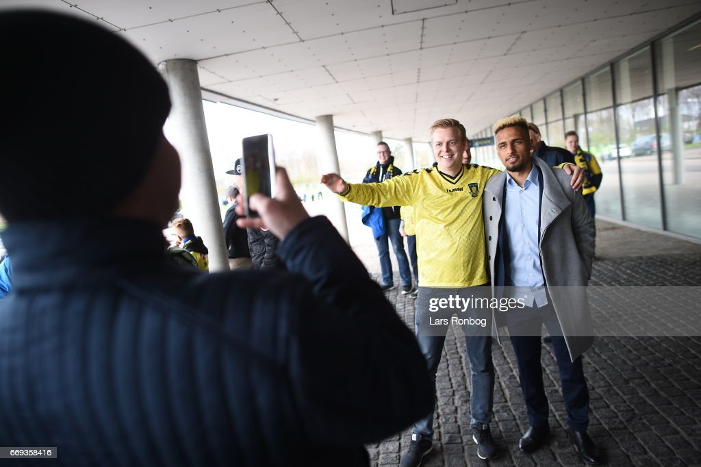 Action from the Danish Alka Superliga match between Brondby IF and FC Copenhagen at Brondby Stadion on April 17, 2017 in Brondby, Denmark.