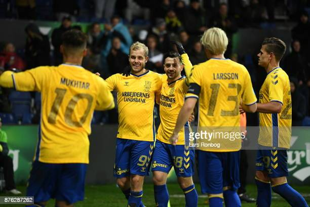 Action from the Danish Alka Superliga match between Brondby IF and FC Nordsjalland at Brondby Stadion on November 19 2017 in Brondby Denmark