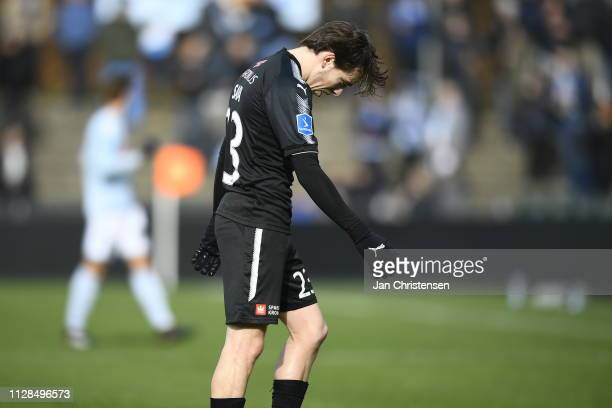 Action from the Danish Alka Superliga match between SonderjyskE and Randers FC at Sydbank Park on March 03 2019 in Haderslev Denmark
