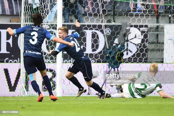 Action from the Danish Alka Superliga Playoff 2nd Leg Final match between Viborg FF and FC Helsingor at Energi Viborg Arena on June 04 2017 in Viborg...