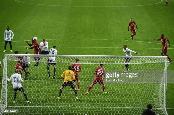 Action from the Danish Cup DBU Pokalen match match between B93 and FC Copenhagen at Telia Parken Stadium on March 1 2017 in Copenhagen Denmark