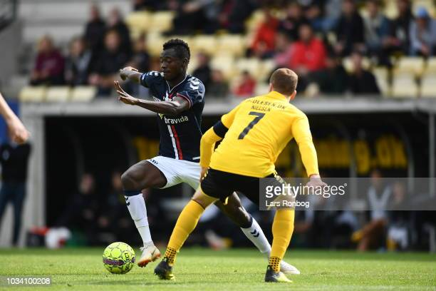 Action from the Danish Superliga match between AC Horsens and AGF Aarhus at CASA Arena Horsens on September 16 2018 in Horsens Denmark