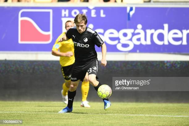 Thomas Thomasberg head coach of Randers FC looks on during the Danish Superliga match between AC Horsens and Randers FC at Casa Arena Horsens on July...