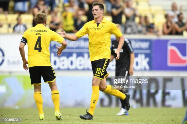 Action from the Danish Superliga match between AC Horsens and Randers FC at Casa Arena Horsens on July 22 2018 in Horsens Denmark