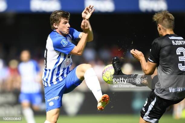 Action from the Danish Superliga match between Esbjerg fB and Vendsyssel FF at Blue Water Arena on July 21 2018 in Esbjerg Denmark