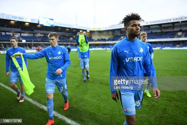 Action from the Danish Superliga match between Randers FC and FC Nordsjalland at BioNutria Park on November 11 2018 in Randers Denmark