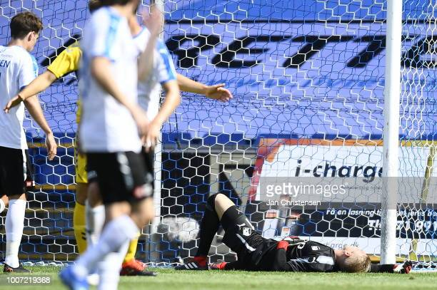 Action from the Danish Superliga match between Randers FC and OB Odense at BioNutria Park Randers on July 29 2018 in Randers Denmark