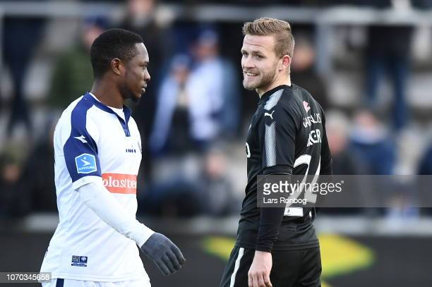 Action from the Danish Superliga match between Vendsyssel FF and Randers FC at Nord Energi Arena on December 9 2018 in Hjorring Denmark