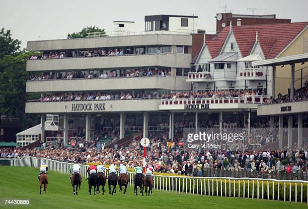 Action from the Enterprise Maiden Claiming Stakes at Haydock Park on June 7 2007 in Haydock England